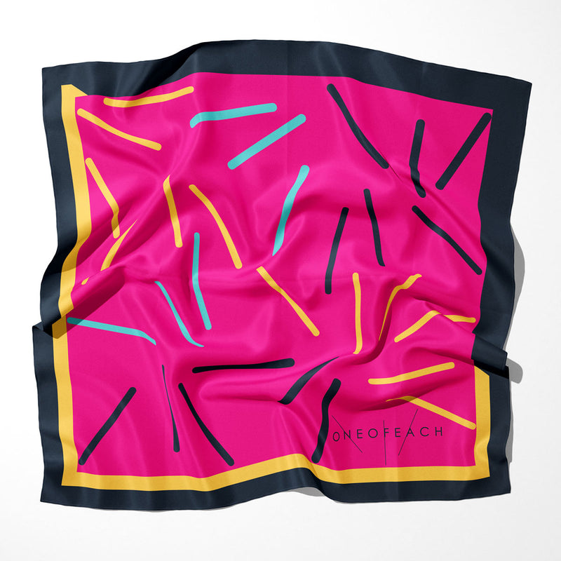 ONEOFEACH Signature Print Scarf | Rose