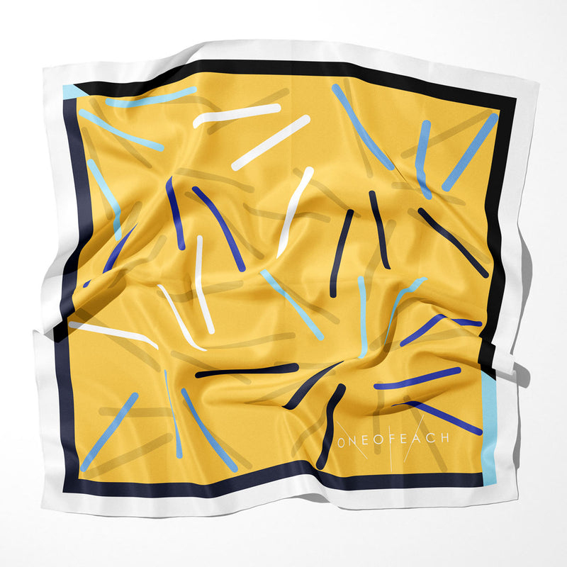 ONEOFEACH Signature Print Scarf | Yellow