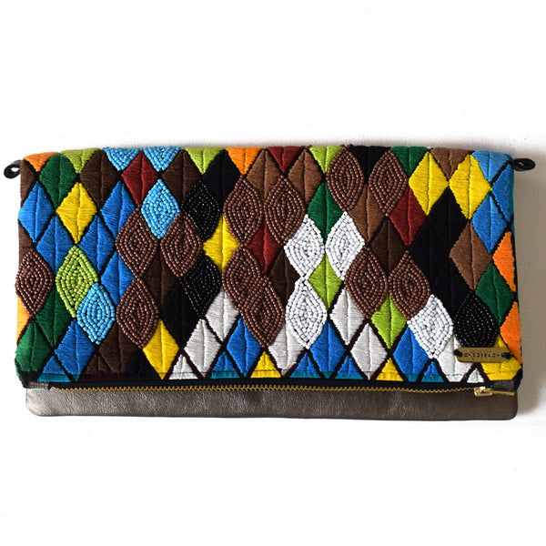 Coloured Diamonds | Embellished Luxury Clutch Bag