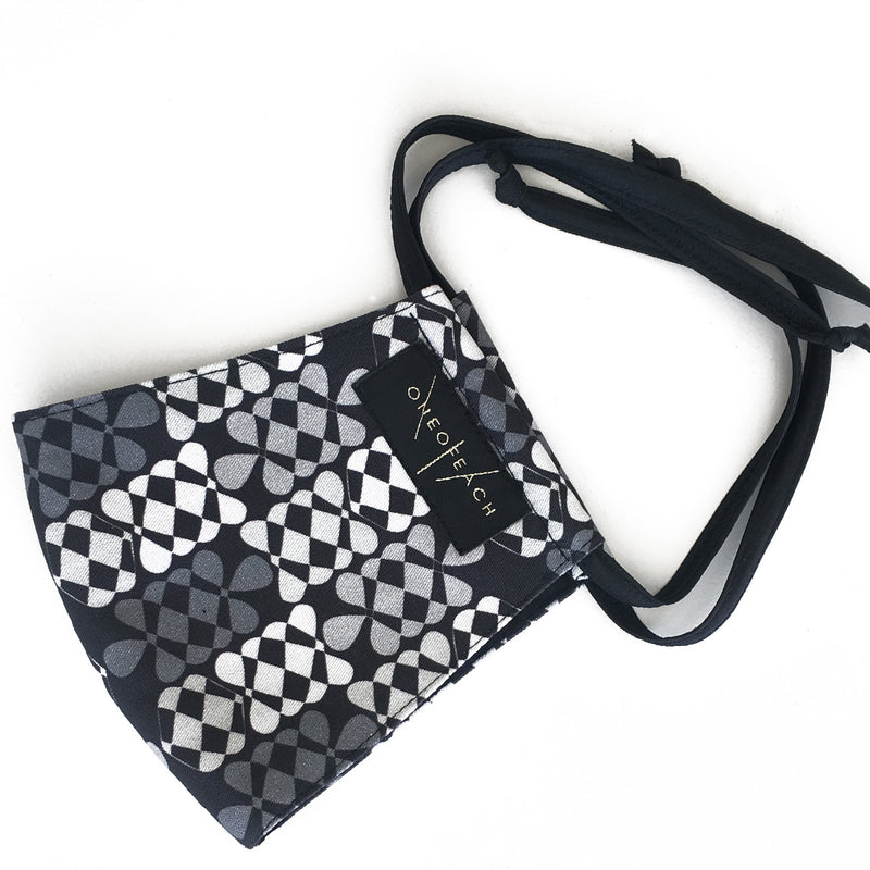 Fabric Face Mask | Arewa | BlackWhite