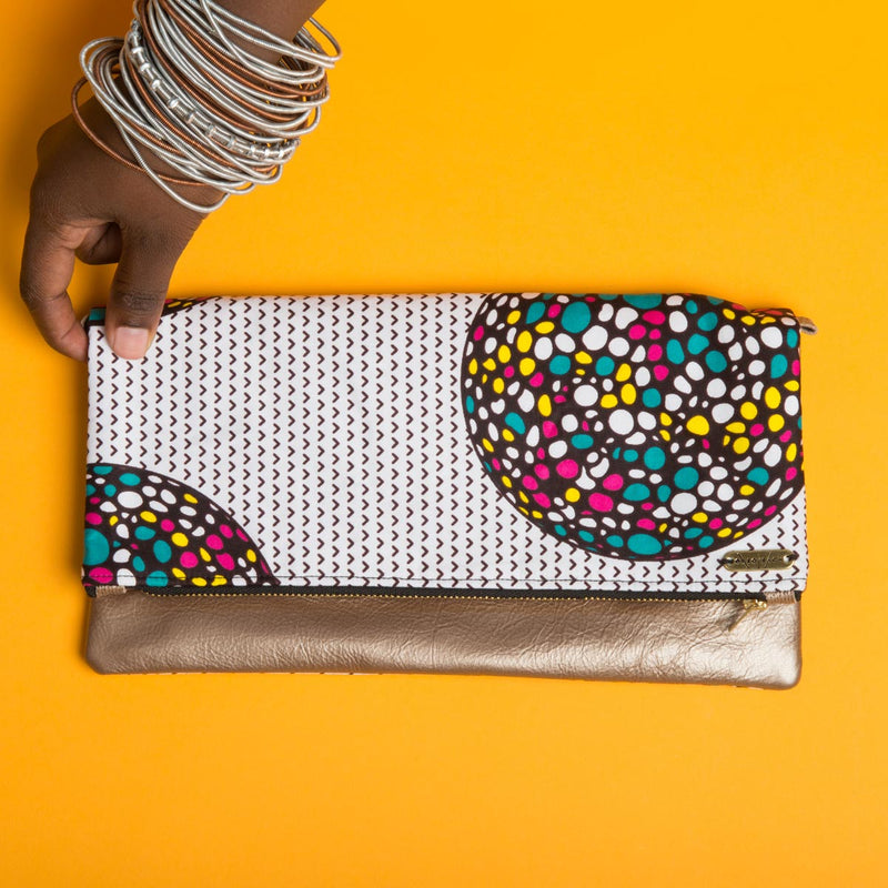 Fold-over Clutch Bag | Multicolored Ball