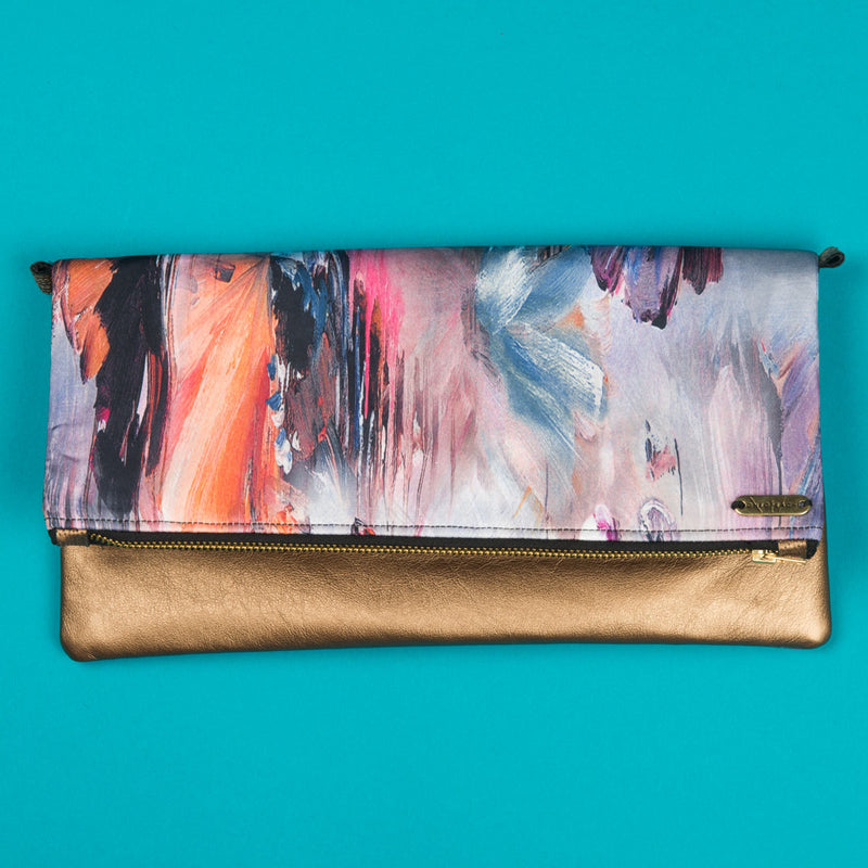 Fold-over Clutch Bag | Watercolour Print