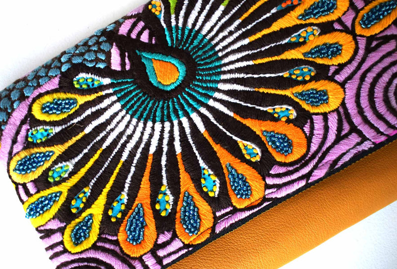 Peacock Feathers | Embellished Luxury Clutch Bag