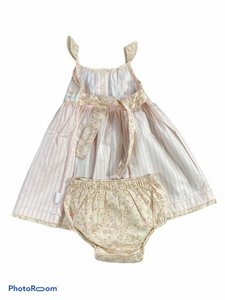 Junior J 3PC Pink Stripe Dress Set (9/12M Girls)