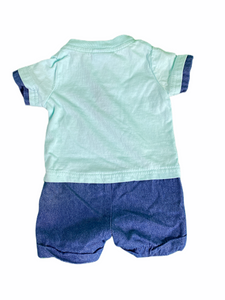 LIttle Lad Denim Fish Romper (3M Boys)