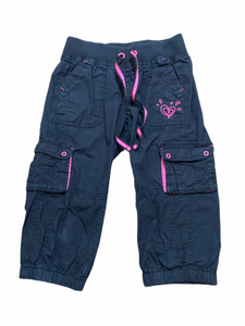 Justice Black Cargo Capri (8 Girls)
