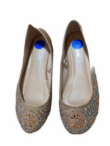 Link Gold Sparkle Flats (Size 2Y)