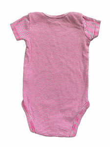 Carter's Pink Stripe Onesie (3M Girls)