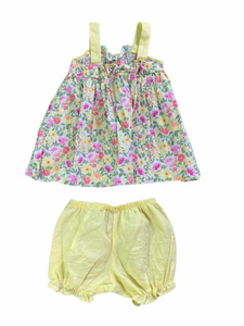 Sweet Yellow Floral Dress Set (6/9M Girls)