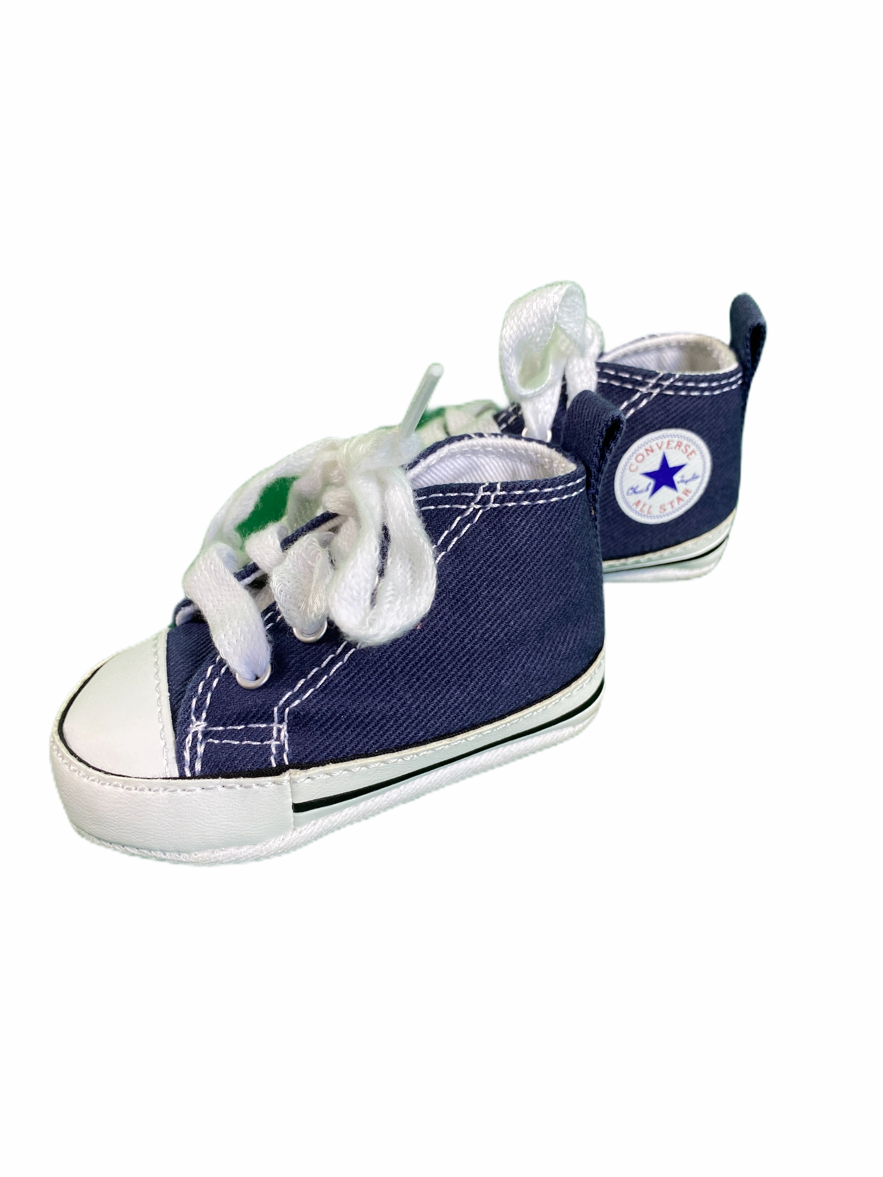 Converse Navy High Tops Soft Shoe (Size 1)
