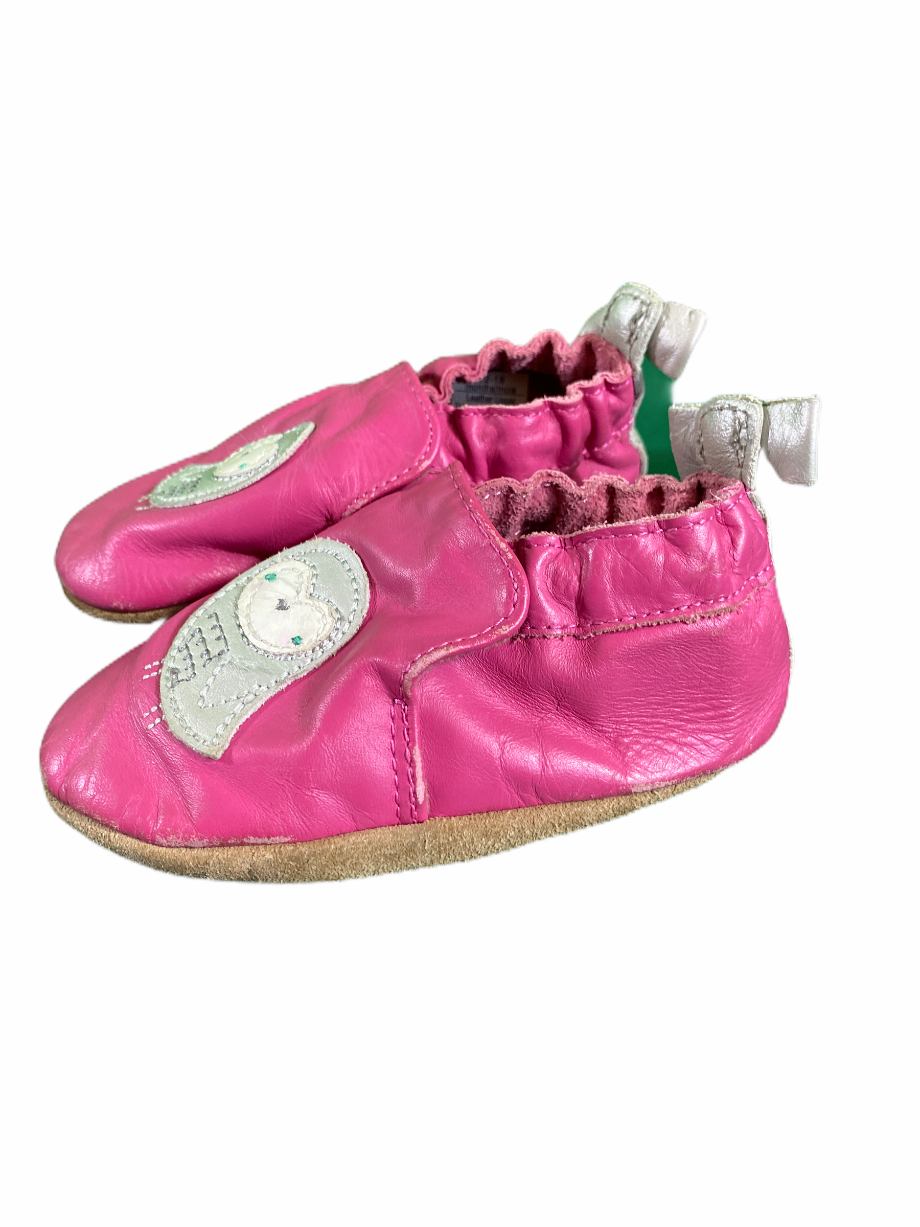 "Robeez Pink ""Owl"" Soft Shoe 12/18M (Size 5)"