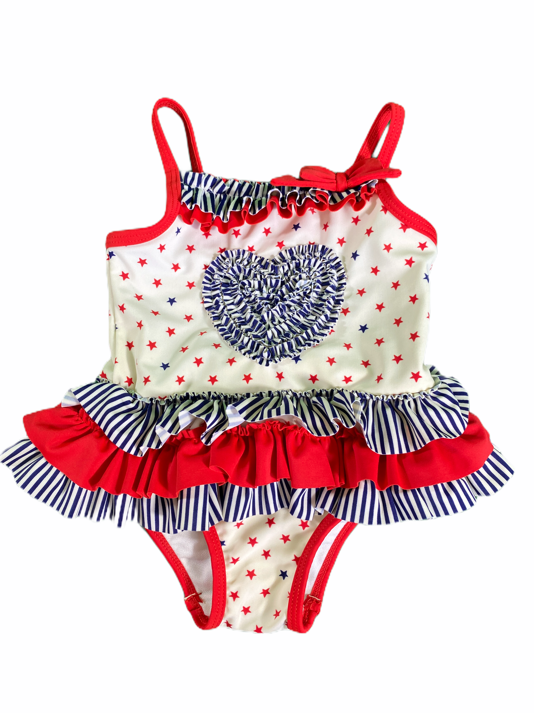 Little Me Red White & Blue Swim suit (12M Girls)