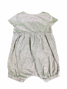 Burt's Bees Gray Romper (3/6M Girls)