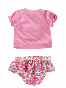 Gymboree Pink Dog Swim Set (3/6M Girls)