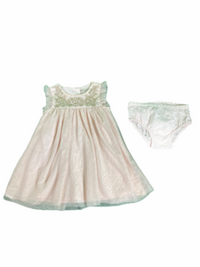 Catherine Malandrino Pink Tulle Dress Set (3/6M Girls)