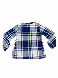 Carter's Long Sleeve Blue & Light Pink Plaid Top (3T Girls)