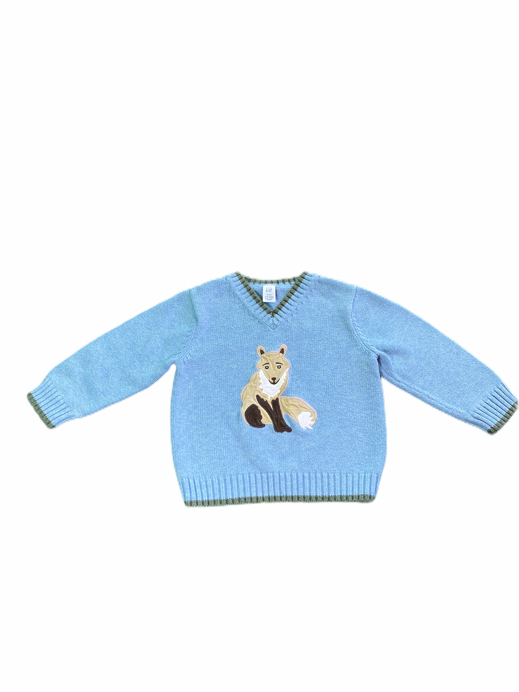 Gap Blue Fox Sweater (18/24M Boys)