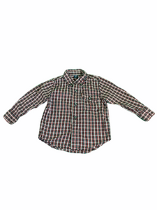 Gap Long Sleeve Red & Black Plaid Button-Down Shirt (2T Boys)