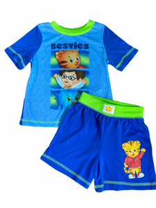 Daniel Tiger 2 PC Short Pajama Set (3T Boys)