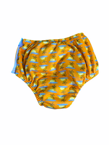 IPlay Orange Palm Swim Diaper SPF+ (3T Boys)