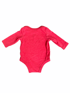 "Nike Long Sleeve Red ""Already Awesome"" Onesie (3M Boys)"