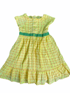 OshKosh Yellow Checkered Dress (4T Girls)