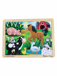 Melissa & Doug Wooden On the Farm Puzzle