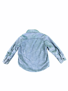 Gap Long Sleeve Blue Lined Button-Down (3T Boys)