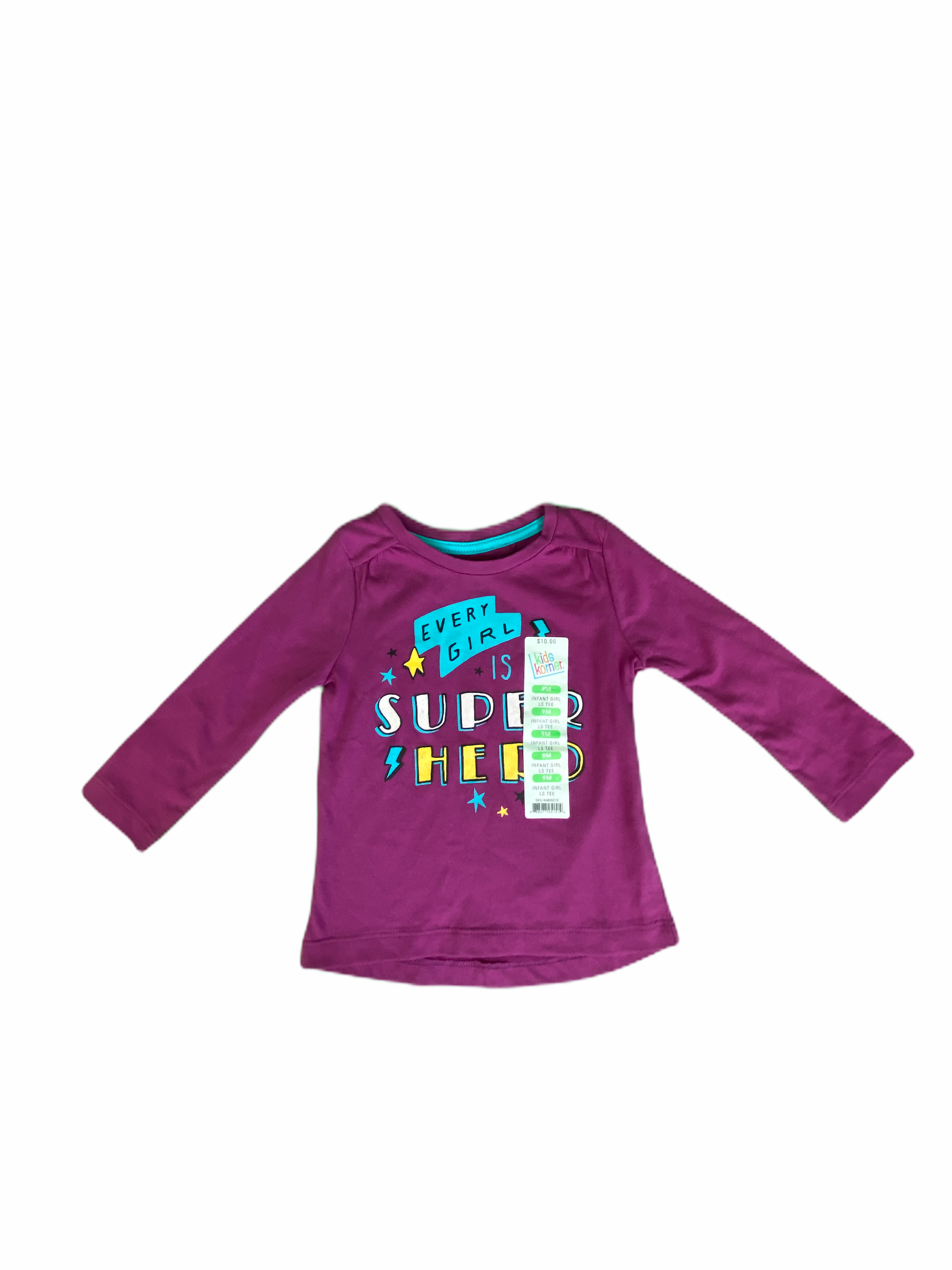 Kids Korner Long Sleeve Purple Tee NWT (9M Girls)