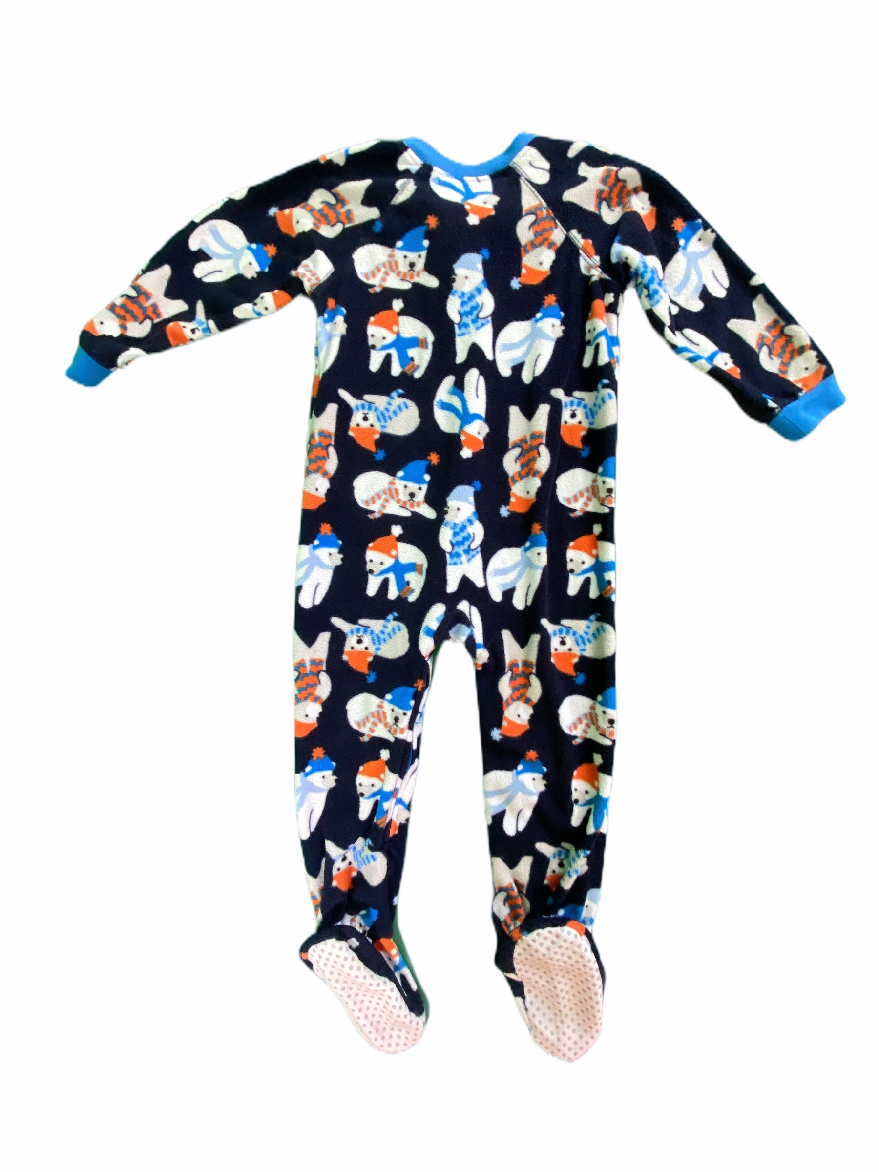 Place Navy Polar Bear Fleece Sleeper (2T Boys)