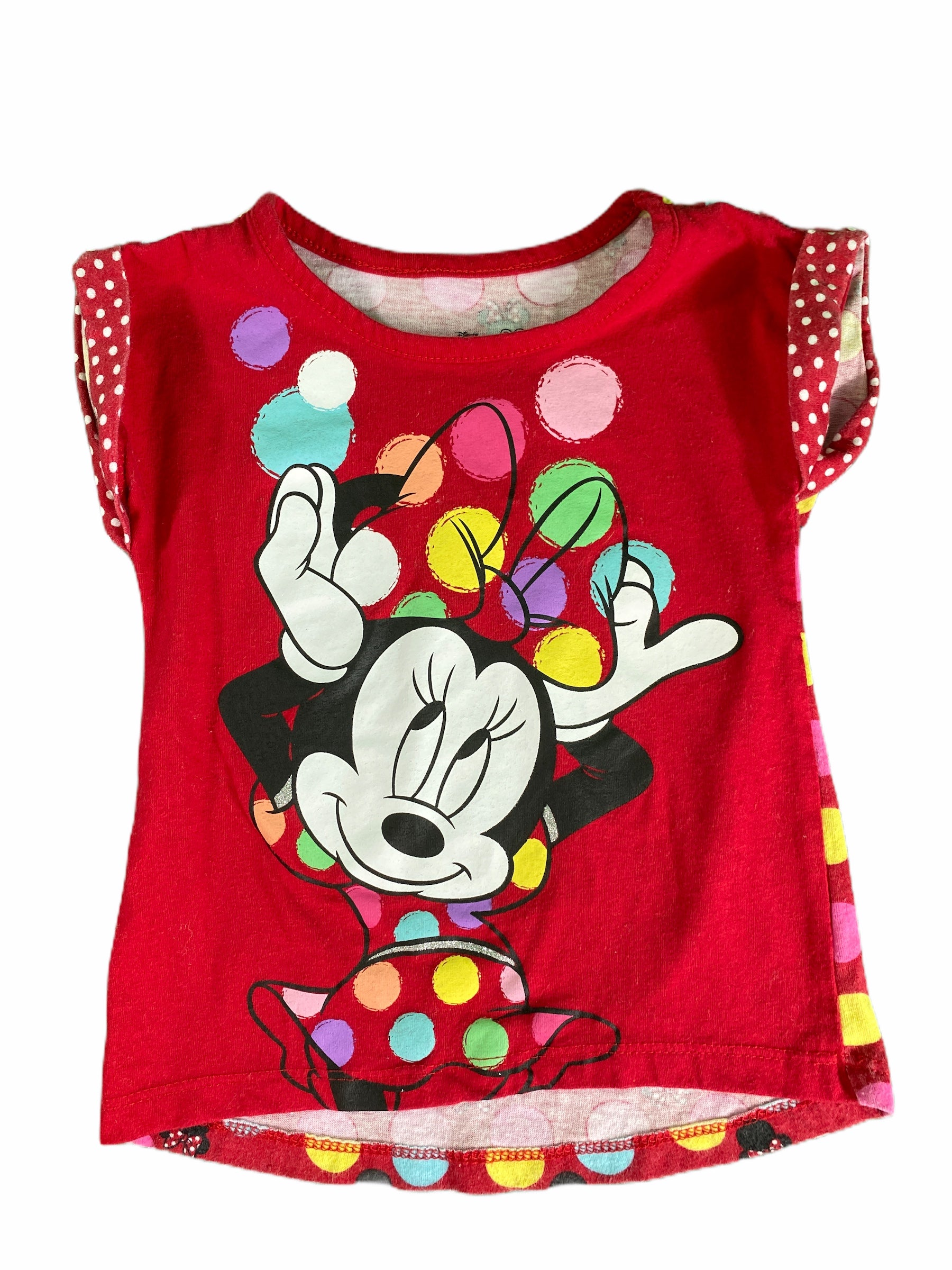Disney Red Minnie Mouse Tee (2T Girls)
