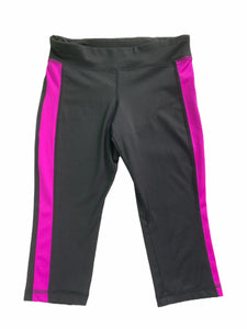Old Navy Black with Purple Stripe Athletic Capris (8 Girls)