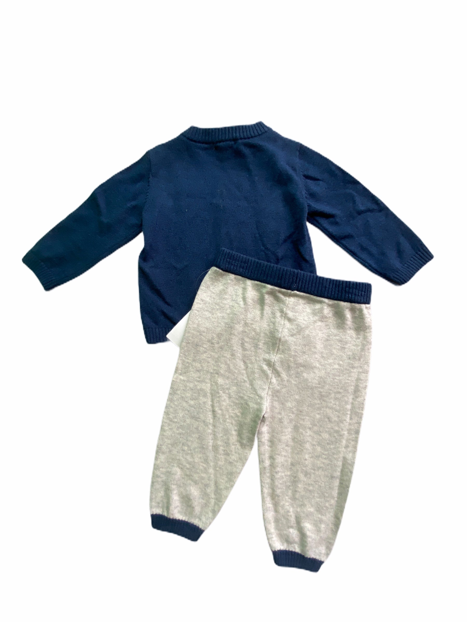 Calvin Klein Navy Sweater Pant Set NWT (3/6M Boys)
