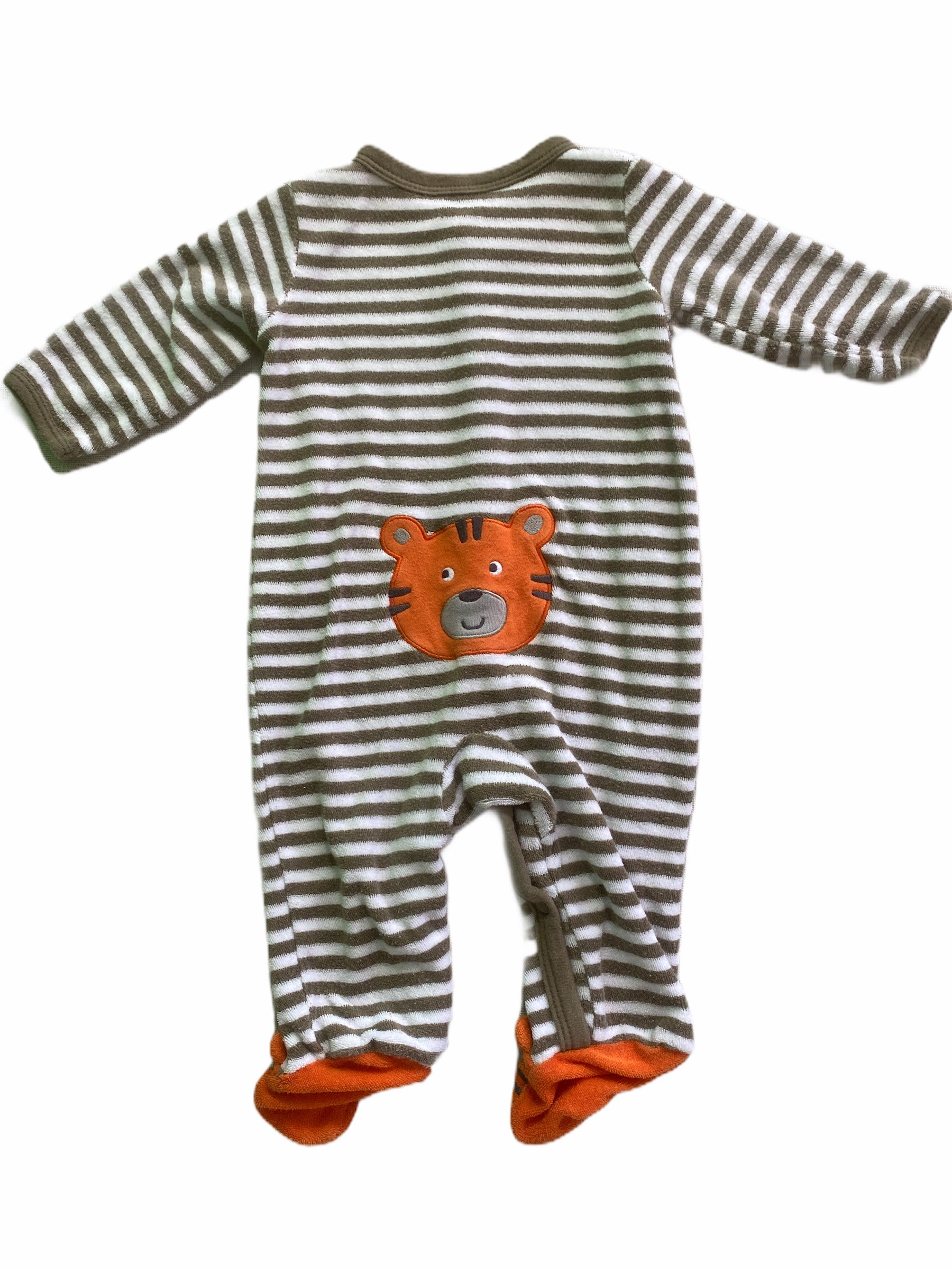 Carter's Stripe Terry Tiger Sleeper (3M Boys)