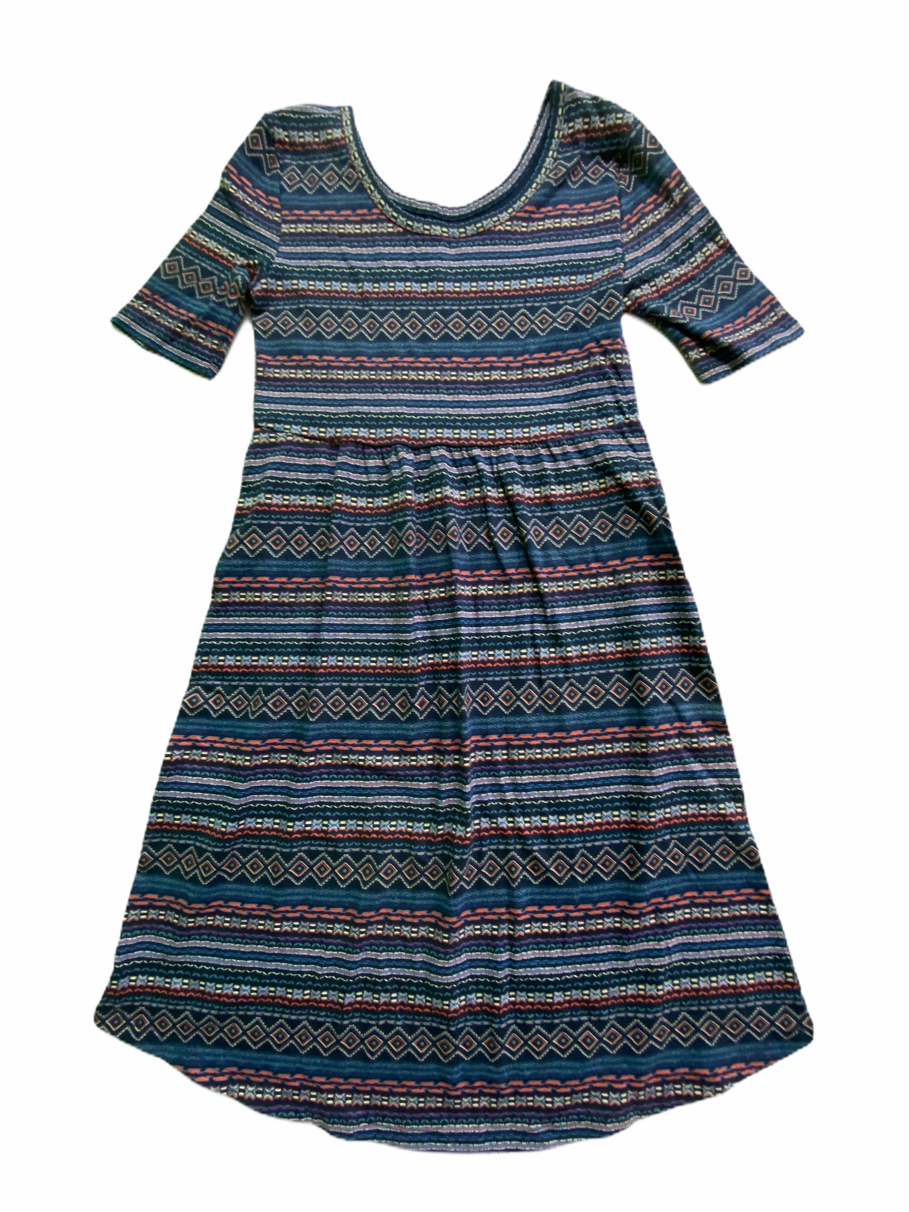 Old Navy Navy Pattern Dress (8 Girls)
