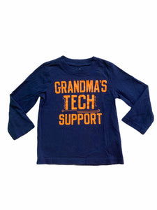 "Carter's Long Sleeve ""Grandma's Tech Support"" Tee (18M Boys)"