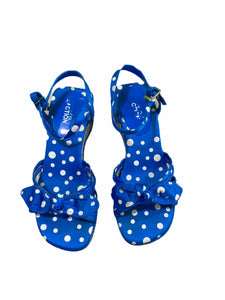 Kenneth Cole Reaction Blue Polka Dot Wedge (size 2Y)