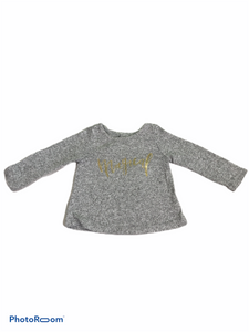 "Cat & Jack Long Sleeve Gray ""Magical"" Tunic (12M Girls)"