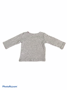 Carter's Long Sleeve Gray with Red Dots Tee (6M Girls)