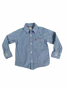 Carter's Blue Stripe Button-Down (2T Boys)