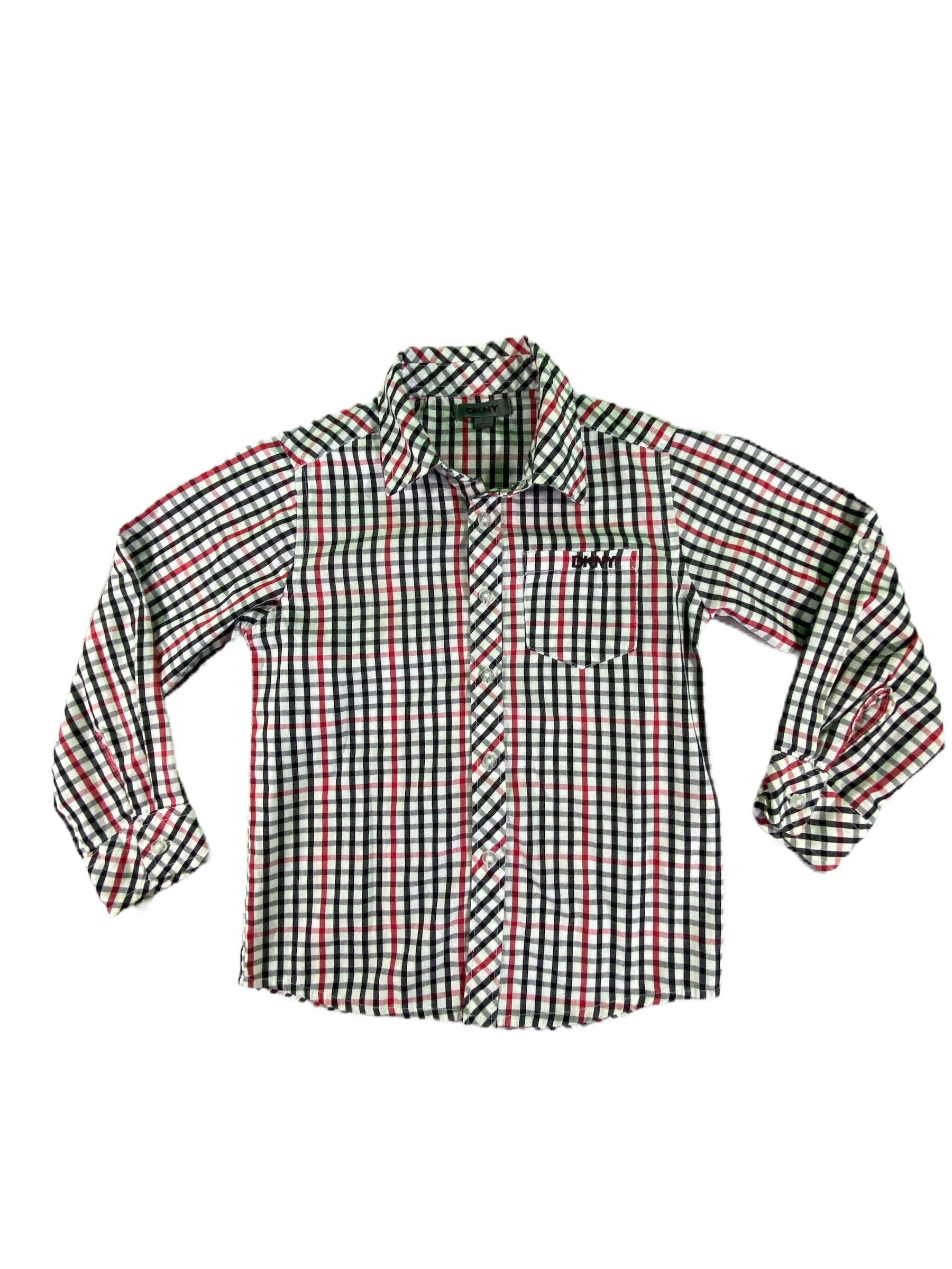 DKNY Plaid Button-Down (5 Boys)