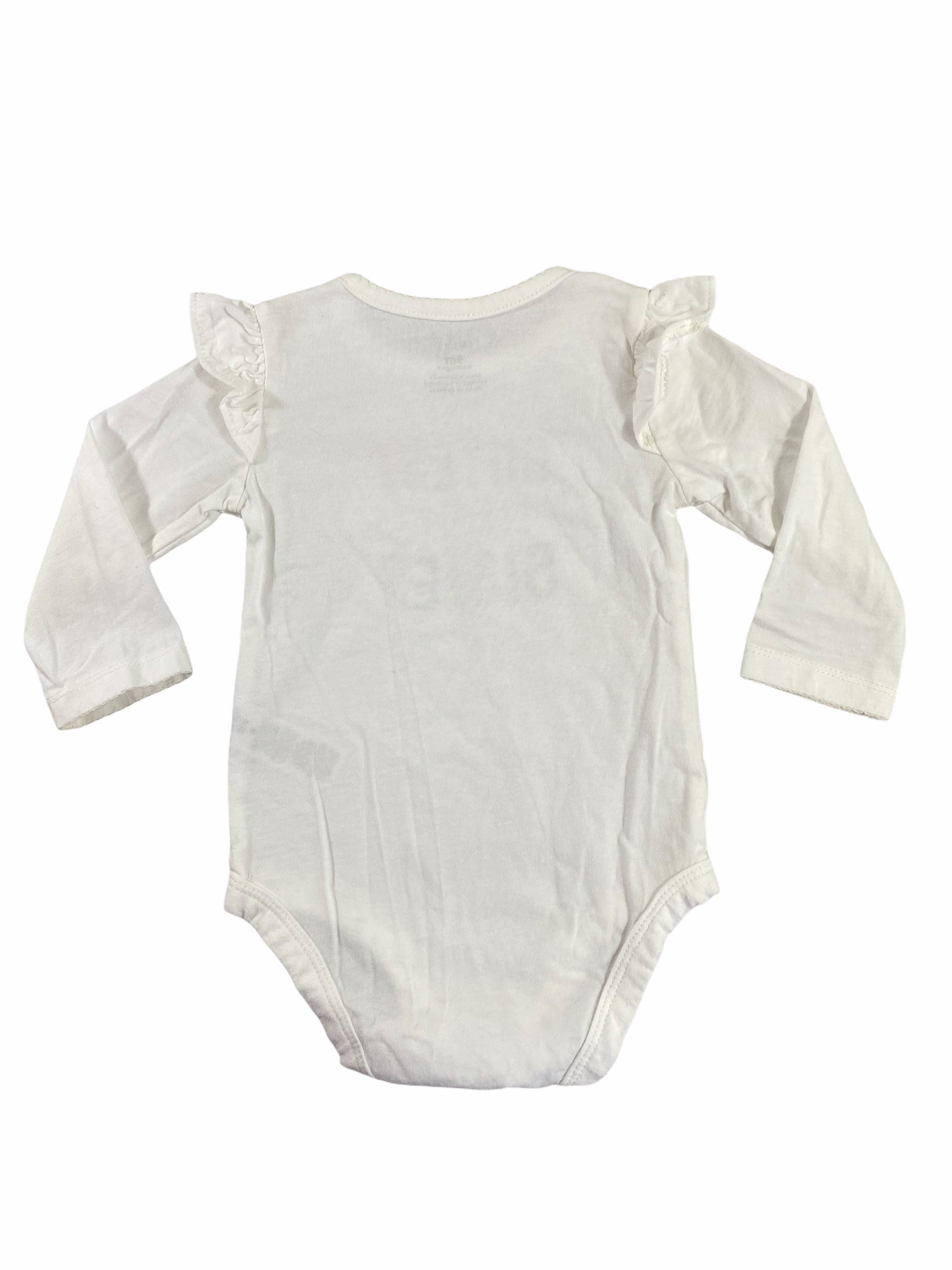 "Carter's Long Sleeve White ""Cutest Little Sister"" Onesie (9M Girls)"