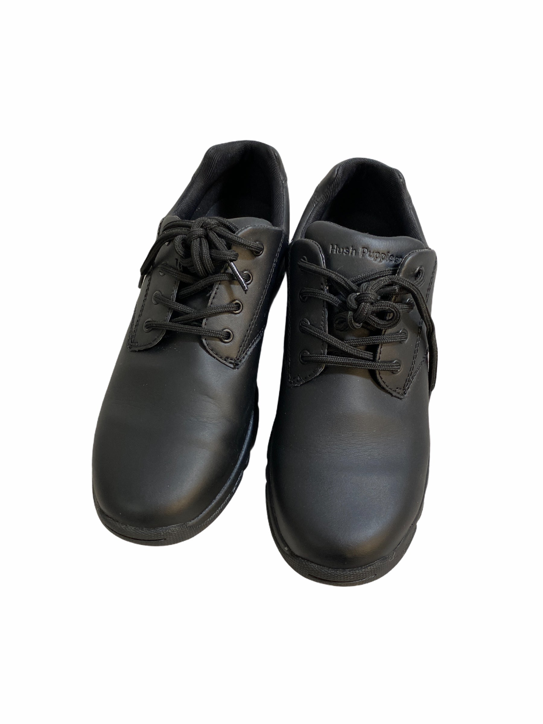 Hush Puppies Black Dress Shoes (Size 5Y)