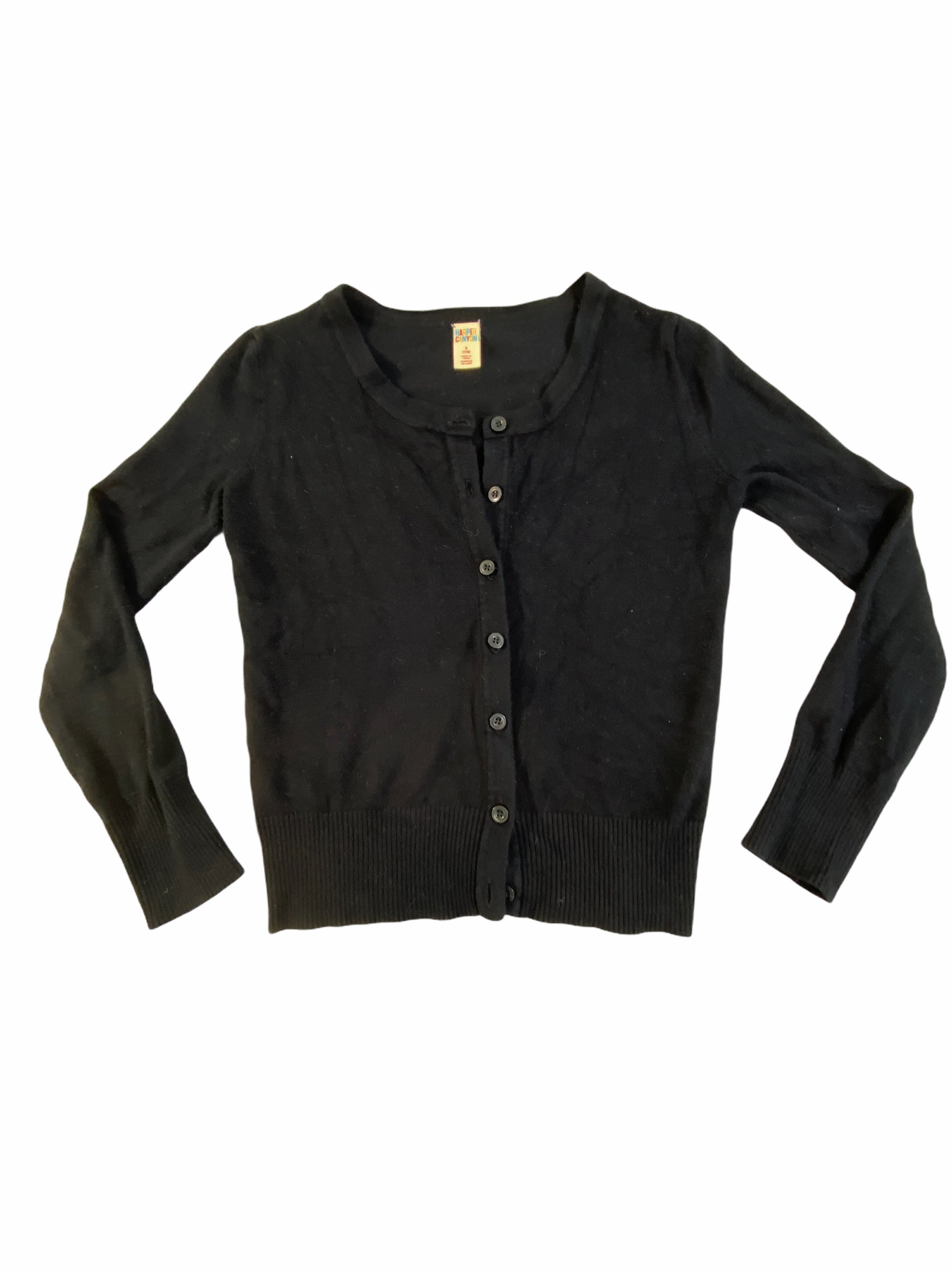 Harper Canyon Black Cardigan (7/8 Girls)