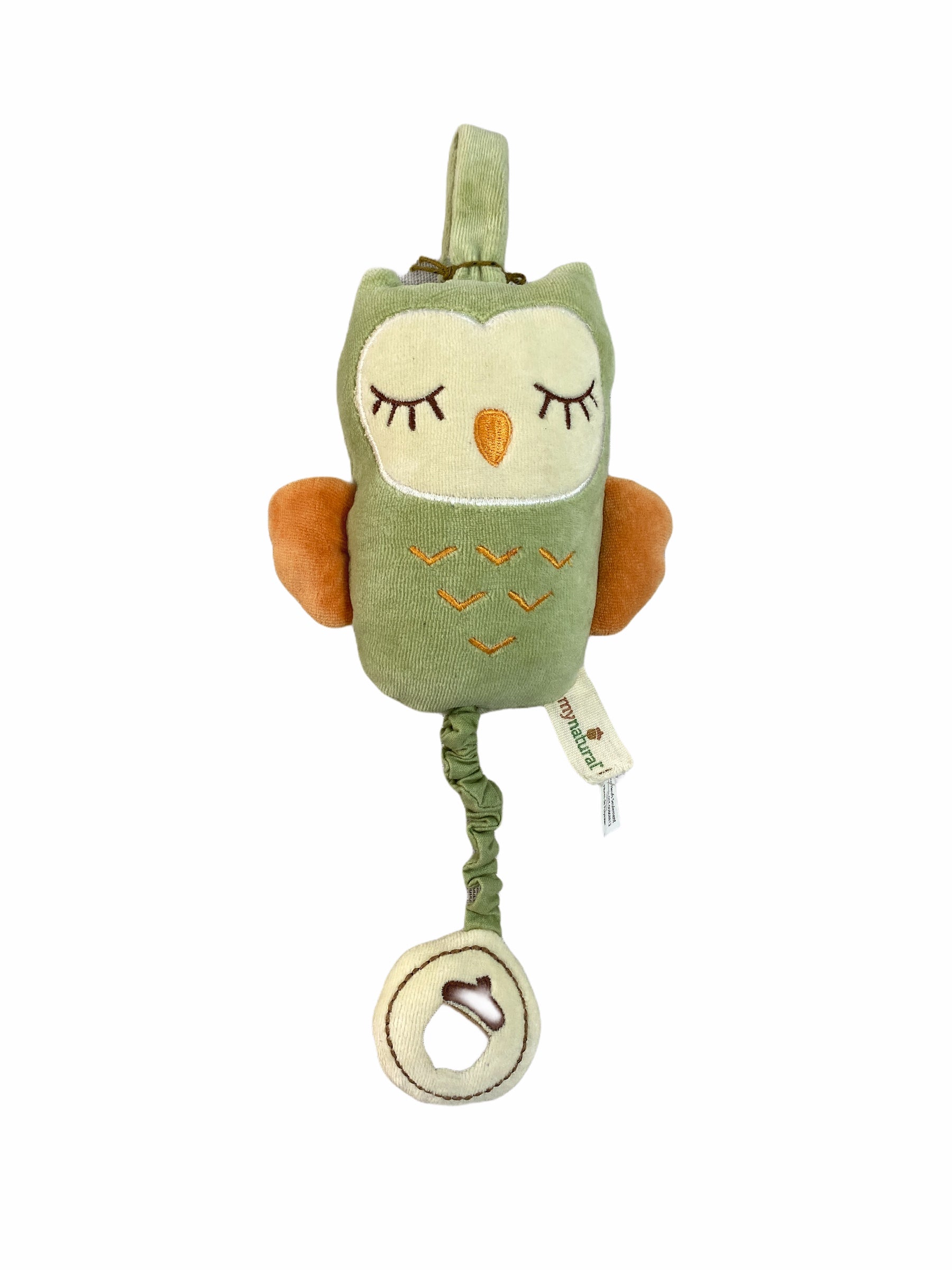 My Natural Owl Pull Music Toy