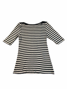 Old Navy Black Stripe Long Sleeve Dress (8 Girls)