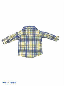 Carter's Blue & Yellow Plaid Button-Down (12M Boys)