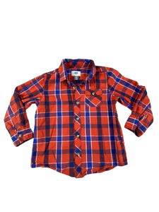 Old Navy Red Plaid Button-Down (5T Boys)