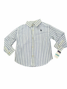 U.S. Polo Blue Stripe Button-Down NWT (5/6 Boys)
