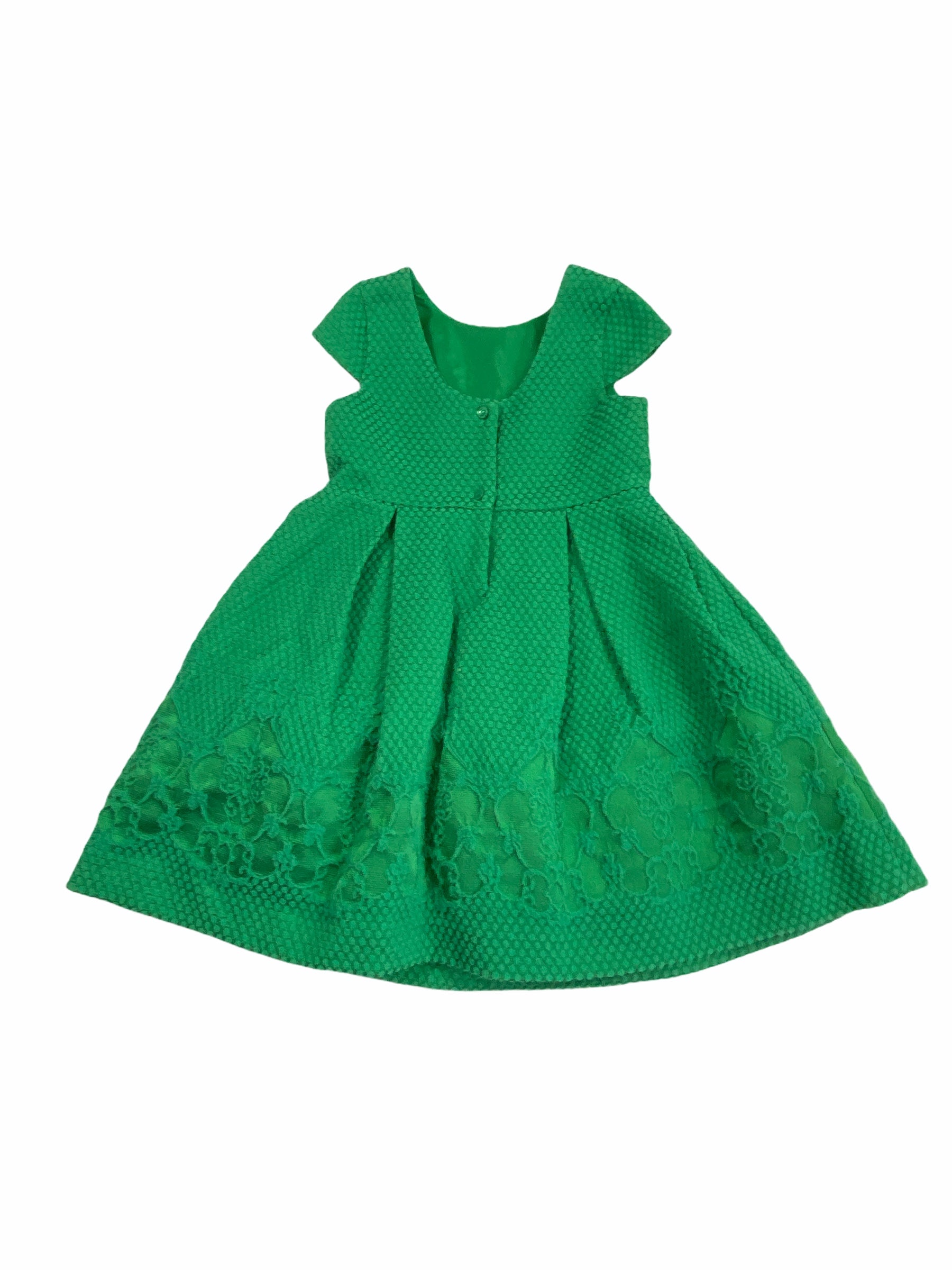 Janie & Jack Green Dress (3 Girls)
